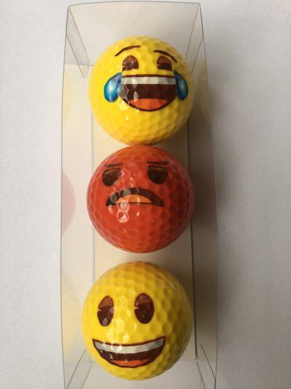 smiley-golfballen-lachen-boos-huilen-van-geluk
