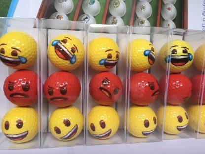 smiley-golfballen-lachen-boos-huilen-van-geluk-groep